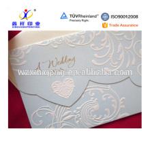 Belles enveloppes de poche de mariage concave-convexe, emballage en papier pour cadeau