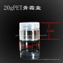 20ml Pet claro frasco de cosméticos con PP tapa / Tarro de plástico / boca ancha / Candy Jar