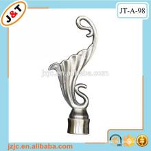 Muslim style curtain pole shower curtain rod covers bird design finial