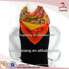 OEM Design de alta qualidade de impressão digital seda cachecol