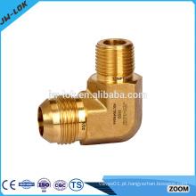 Compressão de latão acessórios de tubo acentuado de 37 graus