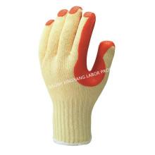 T / C оболочки ламинированные латексные пальмы защитные рабочие перчатки работы (S8001)