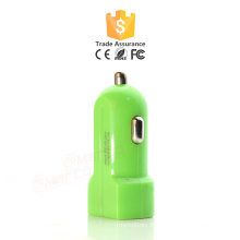 5.Cheap Wholesale Coloré Dual USB Car Charger pour iphone Mini promotionnel personnalisé Universal USB Car Charger
