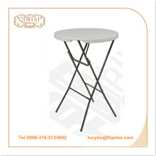 wholesale portable HDPE round plastic folding/party table