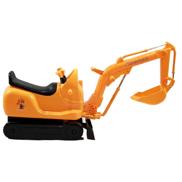 Electric children ride Excavator