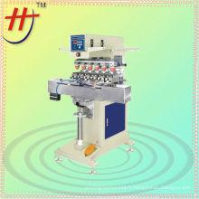 HP-300FY Machine d'impression de tampon logo à six couleurs avec table de course à niveau de navette