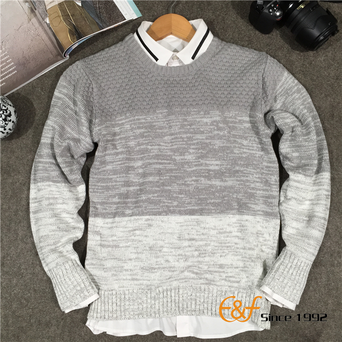 3-color knitted sweater