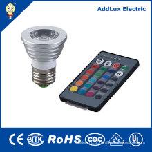 Luz Spot LED com Controle Remoto 5W GU10 COB
