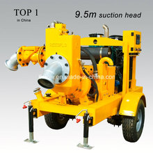 Remorque de pompe à eau diesel centrifuge à urgence mobile