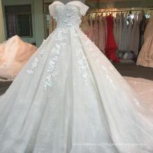 Alibaba fora do ombro champanhe vestido de noiva 2017 WT406