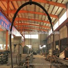 Arches en acier en forme de U dans le tunnel de la mine de charbon
