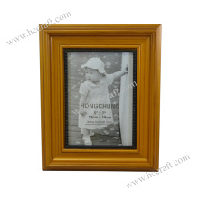 Golden Wooden Photo Frame for Home Deco
