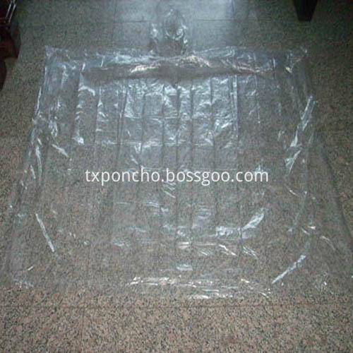 Disposable clear rain poncho