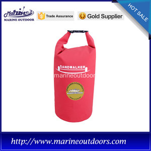 Red camping dry bags with high frequency technology