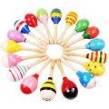 Jouets personnalisés pour enfants Musique de bébé Maracas en bois