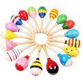 Custom Children Baby Music Toy Wooden Maracas
