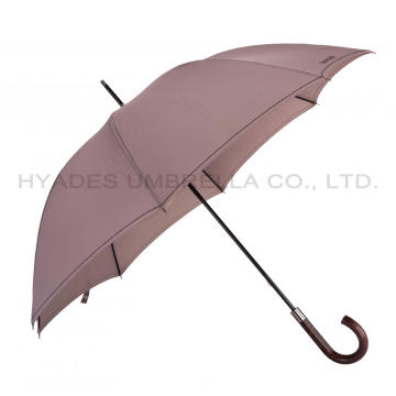 Classic Mens Straight Umbrella Hand Open