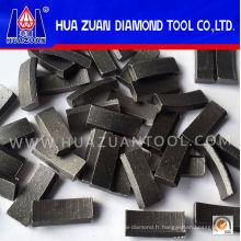 Segment de perçage de diamant de rendement élevé pour renforcer la coupe concrète
