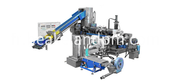 Film die face cutting granulating machine