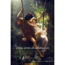 Pintura al óleo del cuadro romántico en lona para la decoración