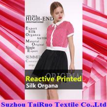Organza en soie imprimé par Digital de 16mm pour le tissu de vêtement