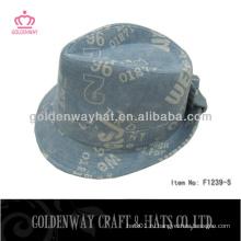 Шляпы с надписью fedora с кружевной шляпой из хлопчатобумажной ткани для мужчин
