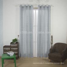 2016 nouvelle forme incurvée en forme 100% Linge de polyester comme tissu de rideau de fenêtre Jacquard