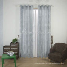 2016 new arrival curved shape 100% Polyester Linen Like Jacquard Window Curtain fabric