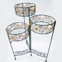 Metal Set Of 3 Plant Stand