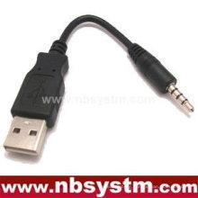 USB A plug to 3.5mm 4-pole plug cable