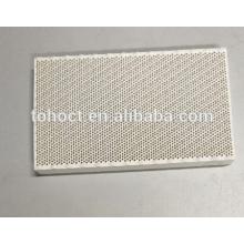 Substrato cerâmico cerâmico infravermelho do disco da placa do favo de mel cerâmico infravermelho de 129x72x13.8mm