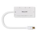 Mini Displayport Dp a HDMI / DVI / VGA / Cable de adaptador de audio estéreo