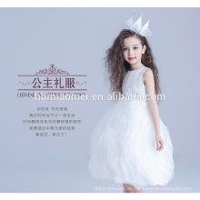 Precio directo de suministro directo de la fábrica en capas vestido sin mangas de longitud media modelo niña de 10 años