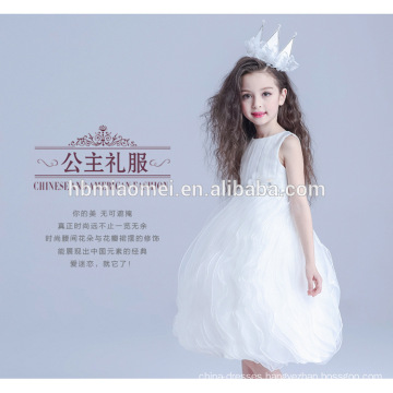 Factory direct supply cheap price layered middle length sleeveless dress model 10 year old girl