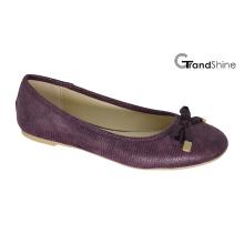Frauen PU flache beiläufige Ballett-Schuhe