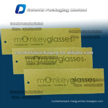 Glasses hang paper tag with round/Paper drop for glasses/bag with round