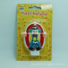 Bougie de numéro d'anniversaire peint à la main de fantaisie