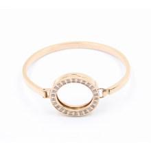 Bracelete do aço inoxidável do ouro do Oval da forma do projeto o mais atrasado com ímã Locket na parte superior
