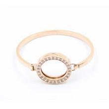 Новый дизайн моды овальной розового золота из нержавеющей стали браслет с магнитом Locket на вершине