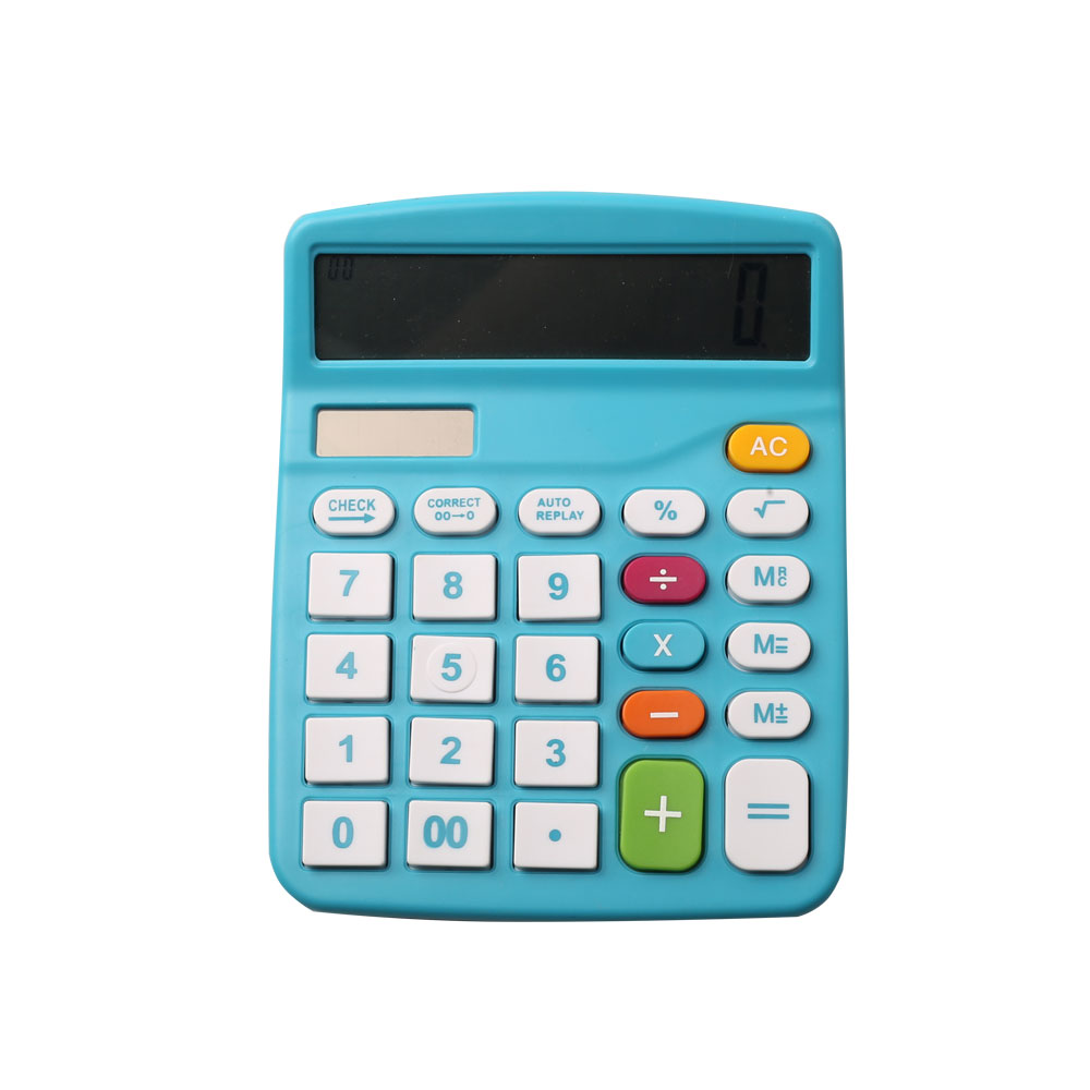 Dual Power Office Desk Calculator with Large Screen