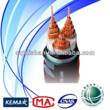 Venta caliente bajo voltaje 0.6 / 1kVCU / XLPE / SWA / PVC 3 * 300mm2 Cable de alimentación