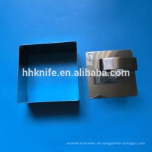 Edelstahl Rechteck Form Kuchenform