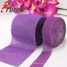Malha de jóias de plástico, cortar strass strass, 24 linhas ou 8 linhas
