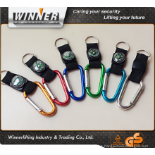 Multifunctional Smart Hiking Metal Carabiner Mini Compass Keychain