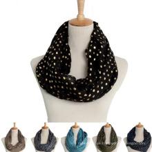 China runde Schalschal-Baumwollschleife des Großhandels runden Punktgoldmarken-Modekreises