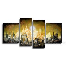 Handmade Canvas Art Cityscape Landscape Oil Painting (LA4-003)
