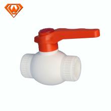 italo pvc ball valve white color