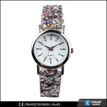 lady fashion watch PU leather watch strap