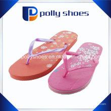 Sandálias impressas finas vermelhas dos calçados Flip Flop Size 8