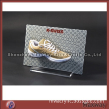 Simple acrylic picture of Shoes display rack for show and introduction